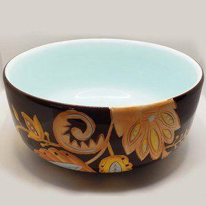 Gates Ware brown folk motive serving bowl